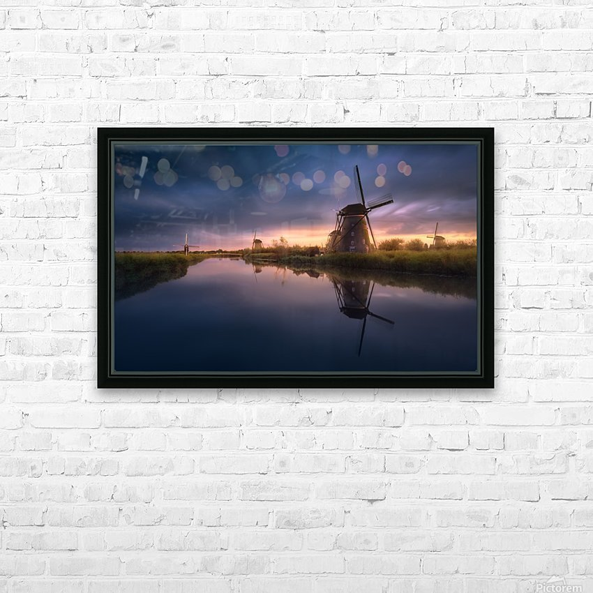 Kinderdijk Windmills HD Sublimation Metal print with Decorating Float Frame (BOX)