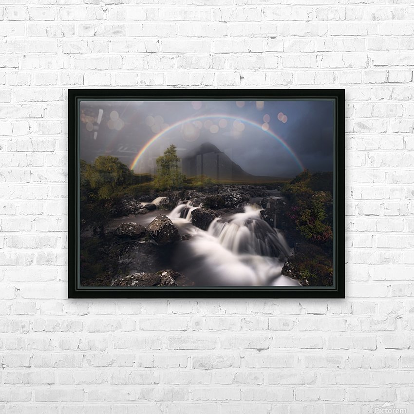 Etive Rainbow HD Sublimation Metal print with Decorating Float Frame (BOX)