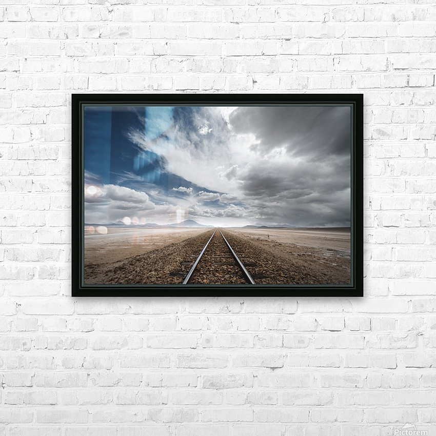 the long road HD Sublimation Metal print with Decorating Float Frame (BOX)