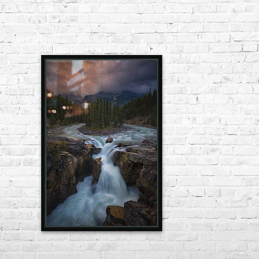 Sunwapta Falls HD Sublimation Metal print with Decorating Float Frame (BOX)