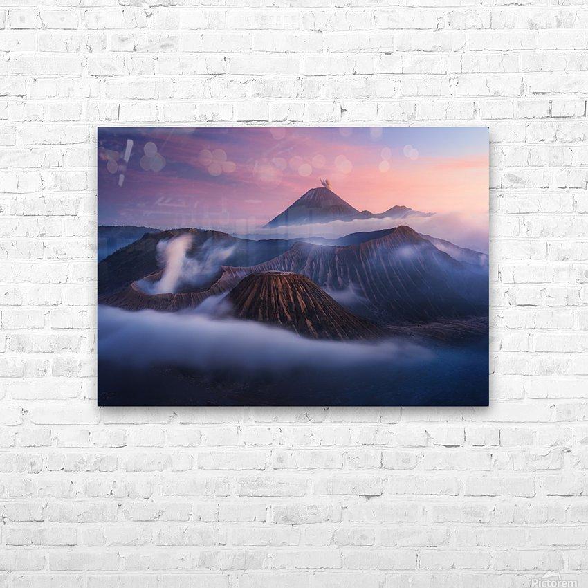 Bromo vs Semeru. HD Sublimation Metal print with Decorating Float Frame (BOX)