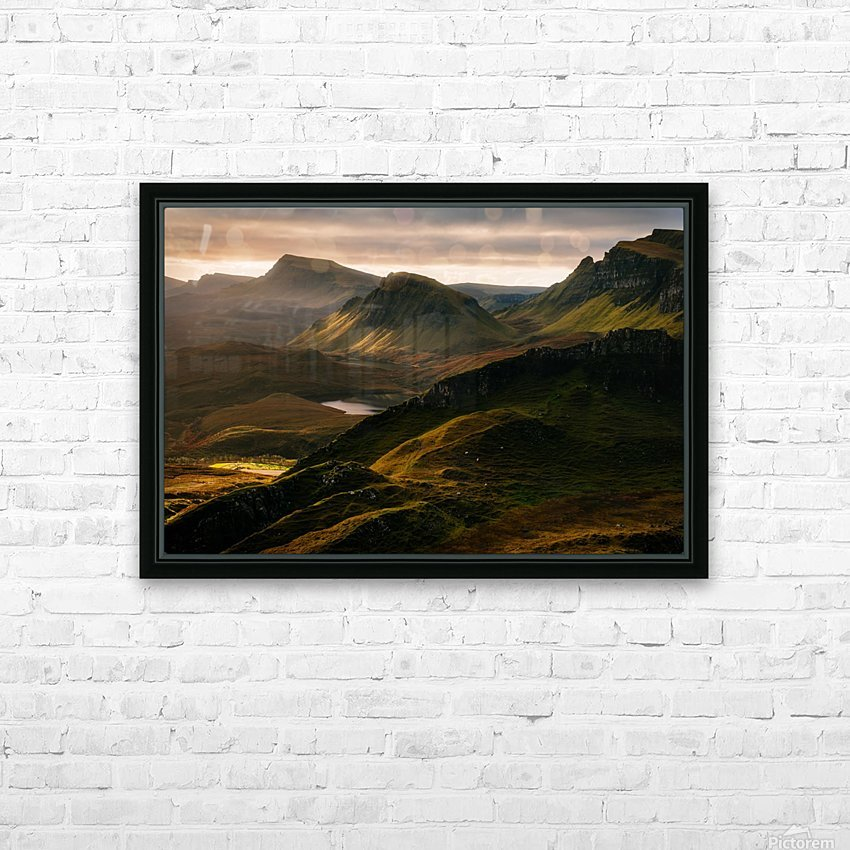 Light and Shadows HD Sublimation Metal print with Decorating Float Frame (BOX)