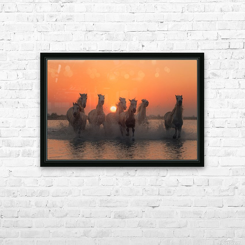 Sunset in Camargue HD Sublimation Metal print with Decorating Float Frame (BOX)
