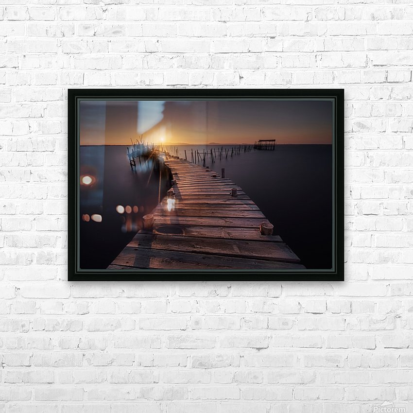 The dock HD Sublimation Metal print with Decorating Float Frame (BOX)