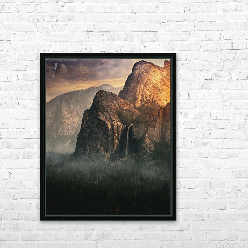 Bridalveil fall, Yosemite HD Sublimation Metal print with Decorating Float Frame (BOX)