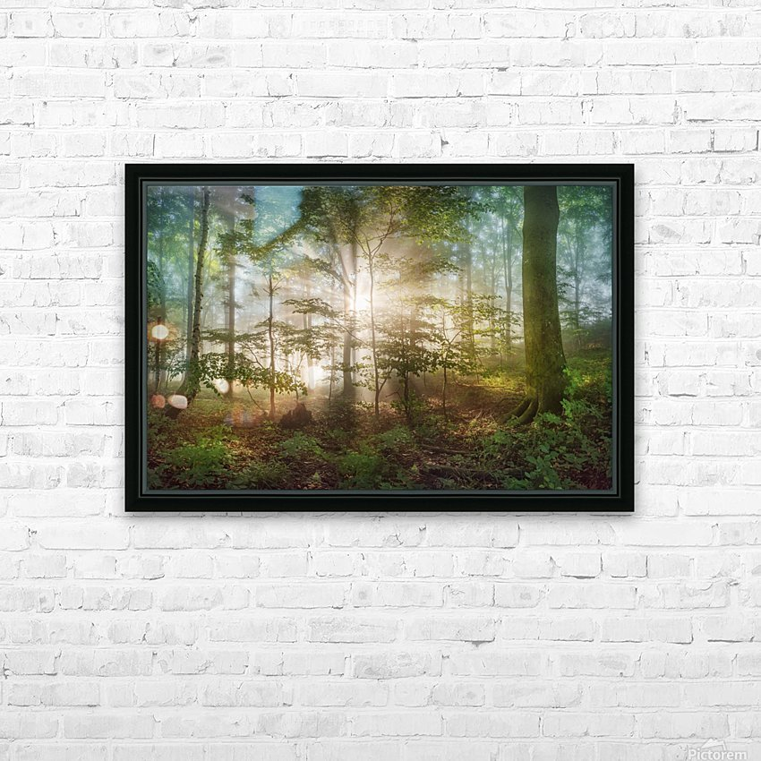 morning sun HD Sublimation Metal print with Decorating Float Frame (BOX)