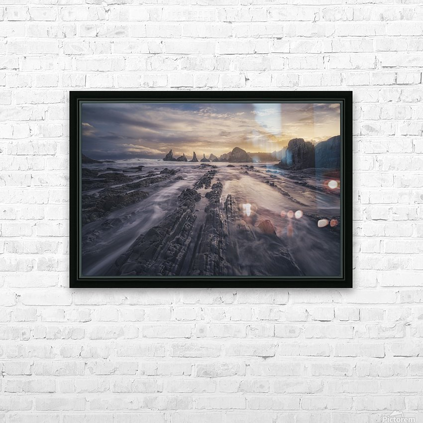 Gueirua lights HD Sublimation Metal print with Decorating Float Frame (BOX)