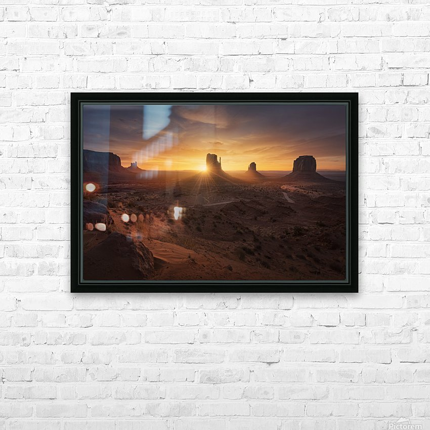 Monument Sunrise. HD Sublimation Metal print with Decorating Float Frame (BOX)