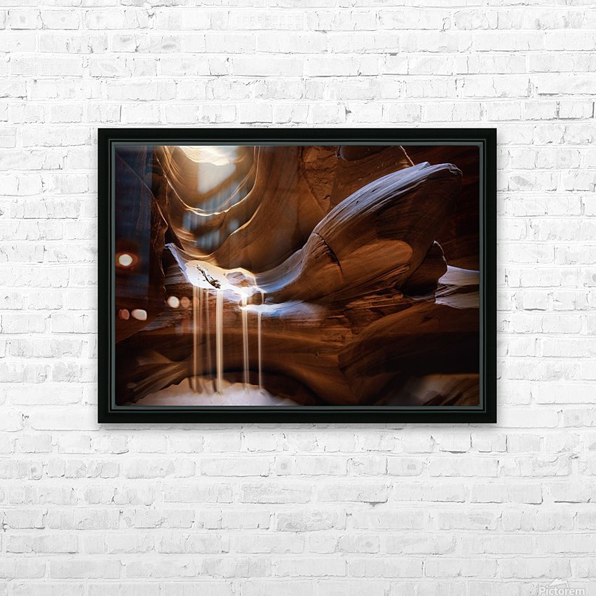 Antelope Waterfall HD Sublimation Metal print with Decorating Float Frame (BOX)