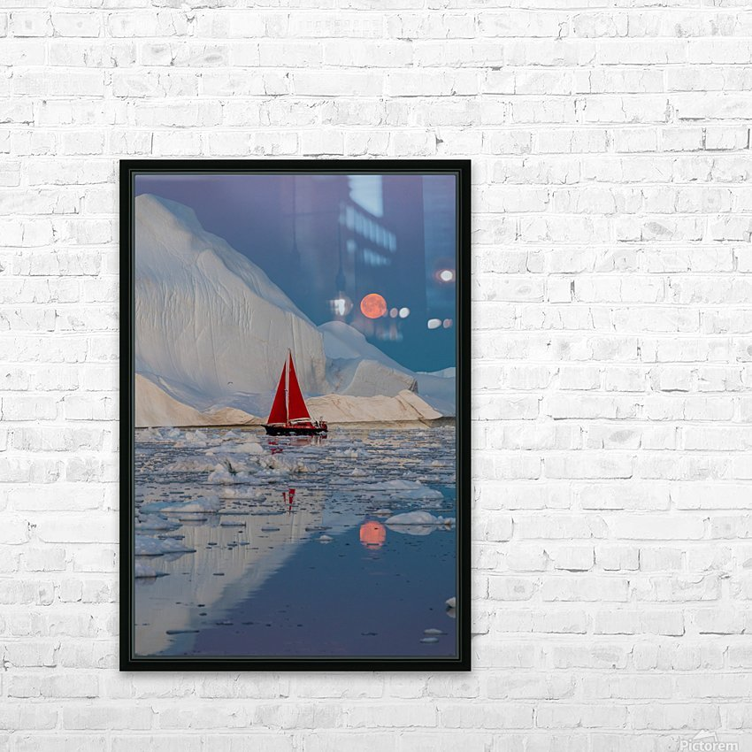 Greenland night HD Sublimation Metal print with Decorating Float Frame (BOX)