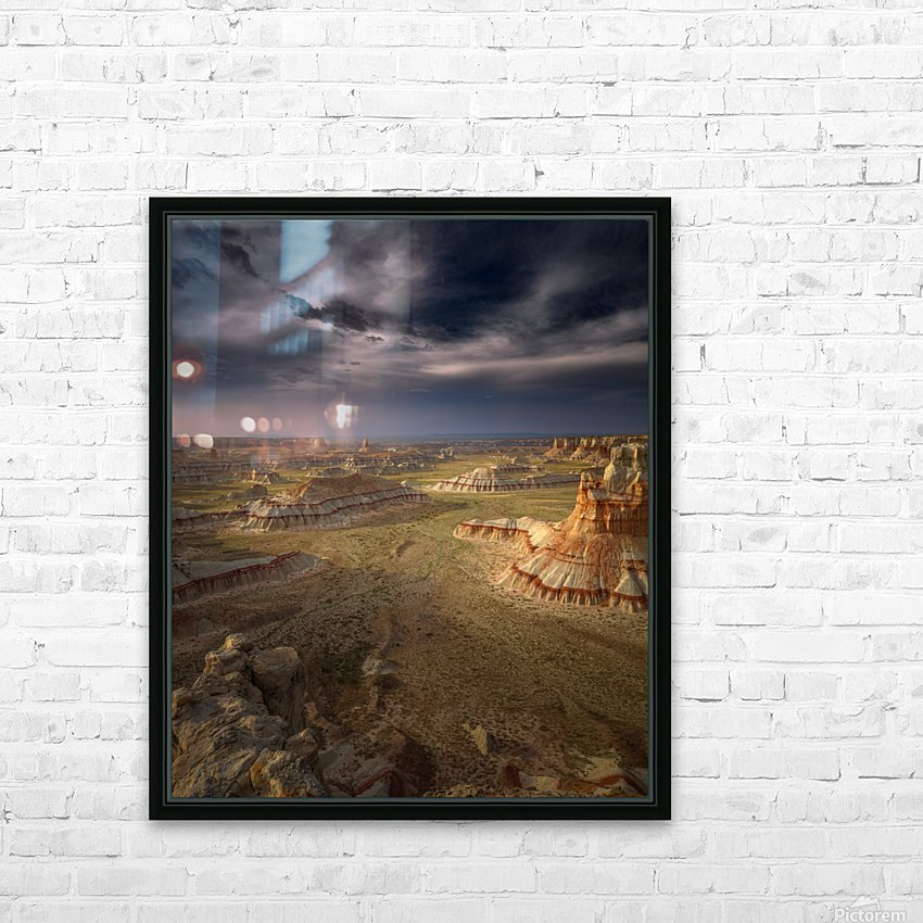 Storm in the distance HD Sublimation Metal print with Decorating Float Frame (BOX)