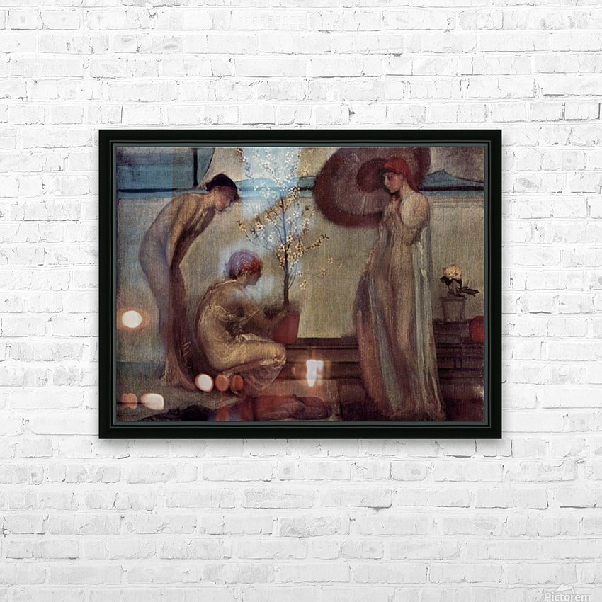 Life angel-1-by Giovanni Segantini HD Sublimation Metal print with Decorating Float Frame (BOX)