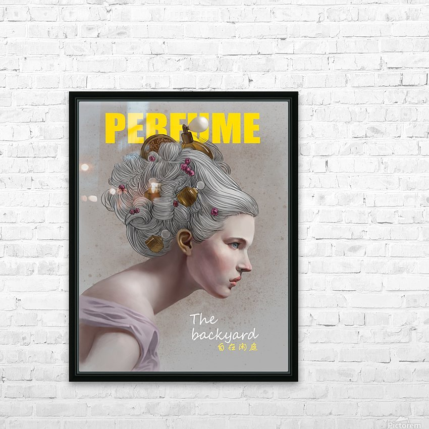 PERFUME HD Sublimation Metal print with Decorating Float Frame (BOX)