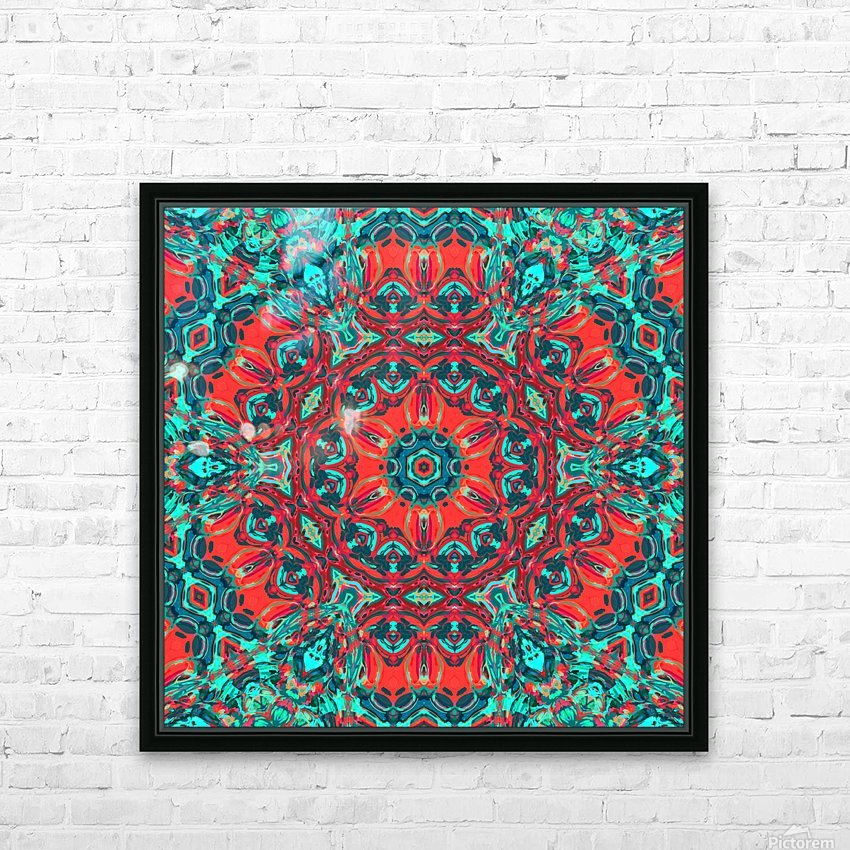 Wild Nature mandala HD Sublimation Metal print with Decorating Float Frame (BOX)
