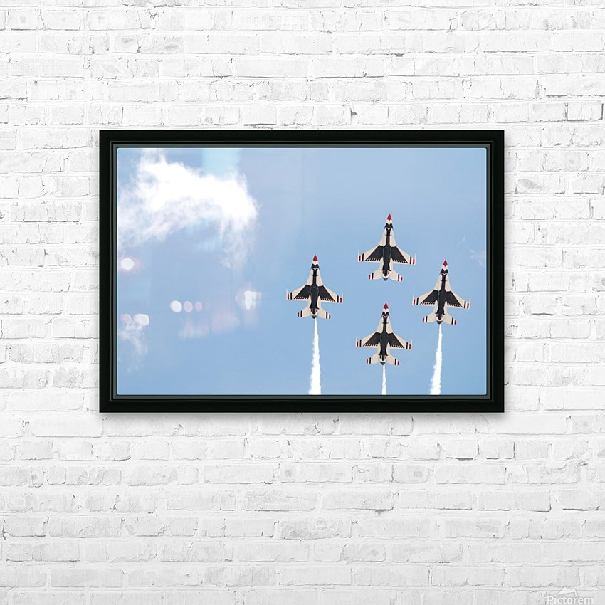 Falcon Formation HD Sublimation Metal print with Decorating Float Frame (BOX)