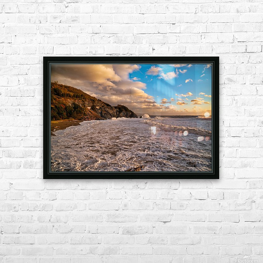 Raging Seas HD Sublimation Metal print with Decorating Float Frame (BOX)