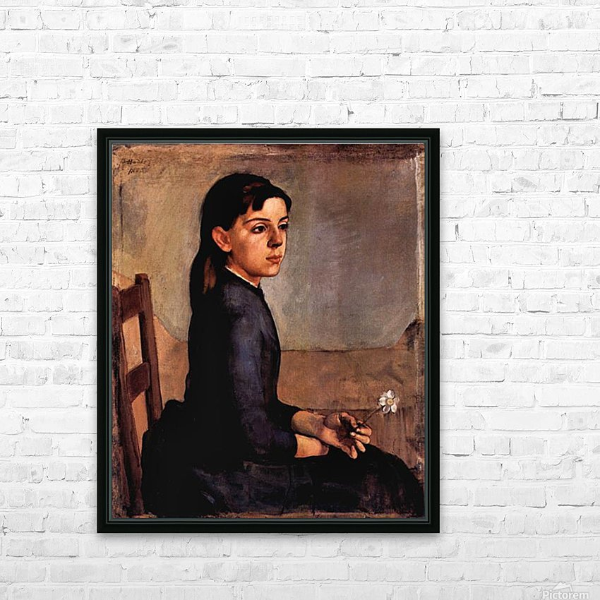 Louise-Delphine Duchosal by Ferdinand Hodler HD Sublimation Metal print with Decorating Float Frame (BOX)