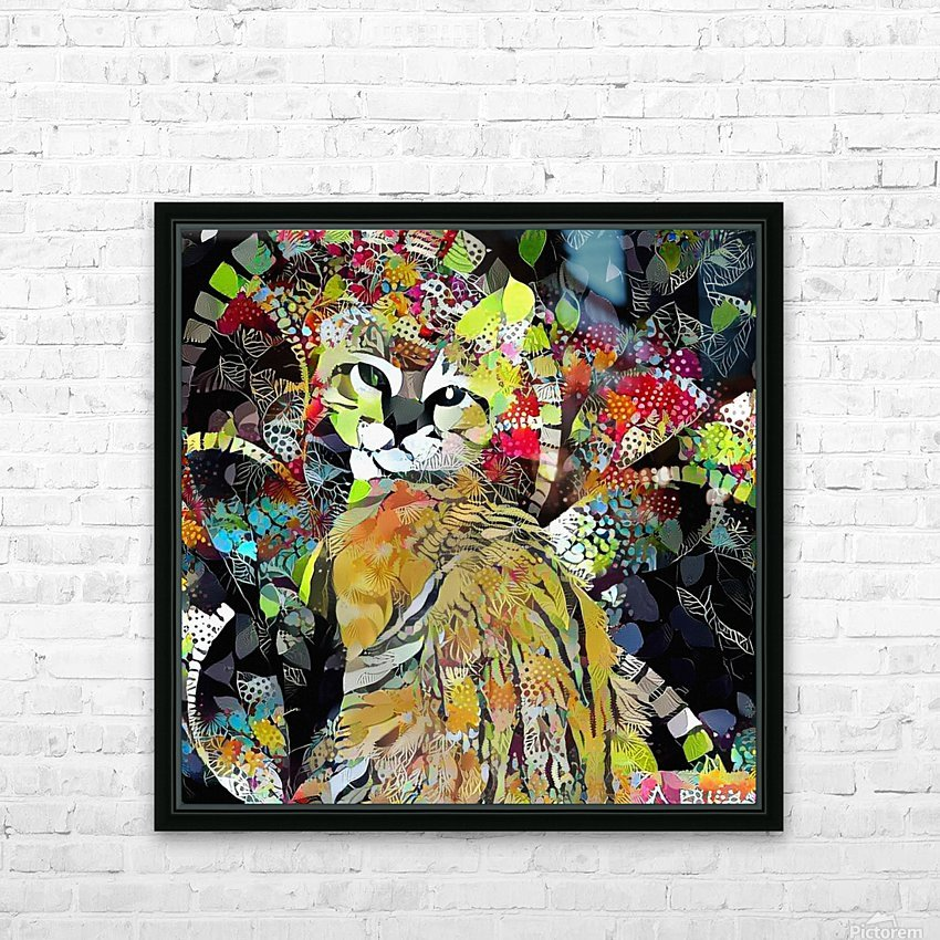 Kitten in Colorful Leaves HD Sublimation Metal print with Decorating Float Frame (BOX)