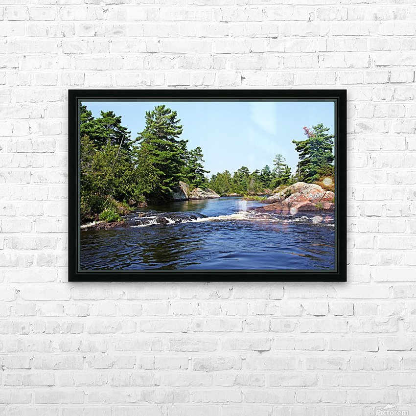 Lovers Rapids Lower French River HD Sublimation Metal print with Decorating Float Frame (BOX)