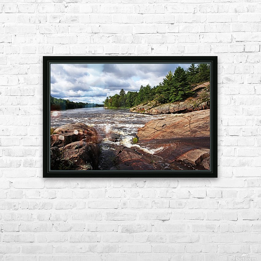 Sturgeon Chutes IX HD Sublimation Metal print with Decorating Float Frame (BOX)