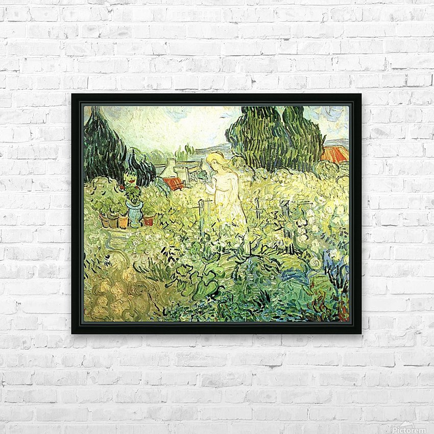 Marguerite Gachet in her garden by Van Gogh HD Sublimation Metal print with Decorating Float Frame (BOX)