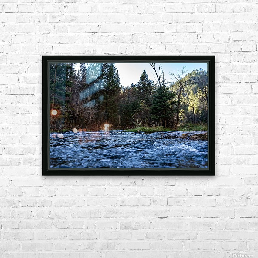 Creek HD Sublimation Metal print with Decorating Float Frame (BOX)