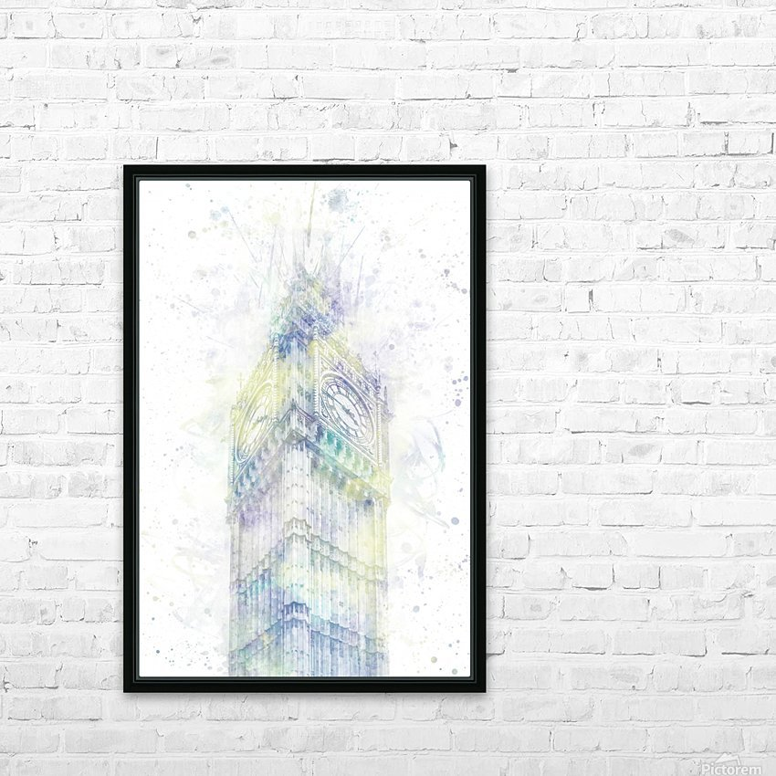 Modern Art BIG BEN | watercolor  HD Sublimation Metal print with Decorating Float Frame (BOX)