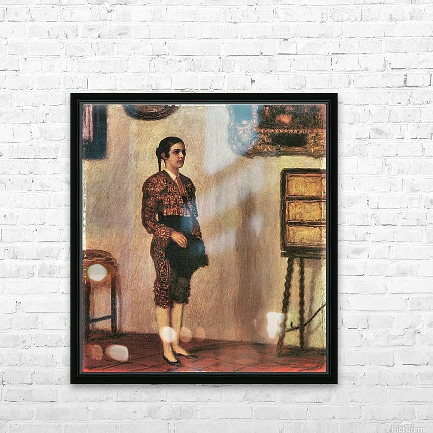 Mary as a bullfighter by Franz von Stuck HD Sublimation Metal print with Decorating Float Frame (BOX)
