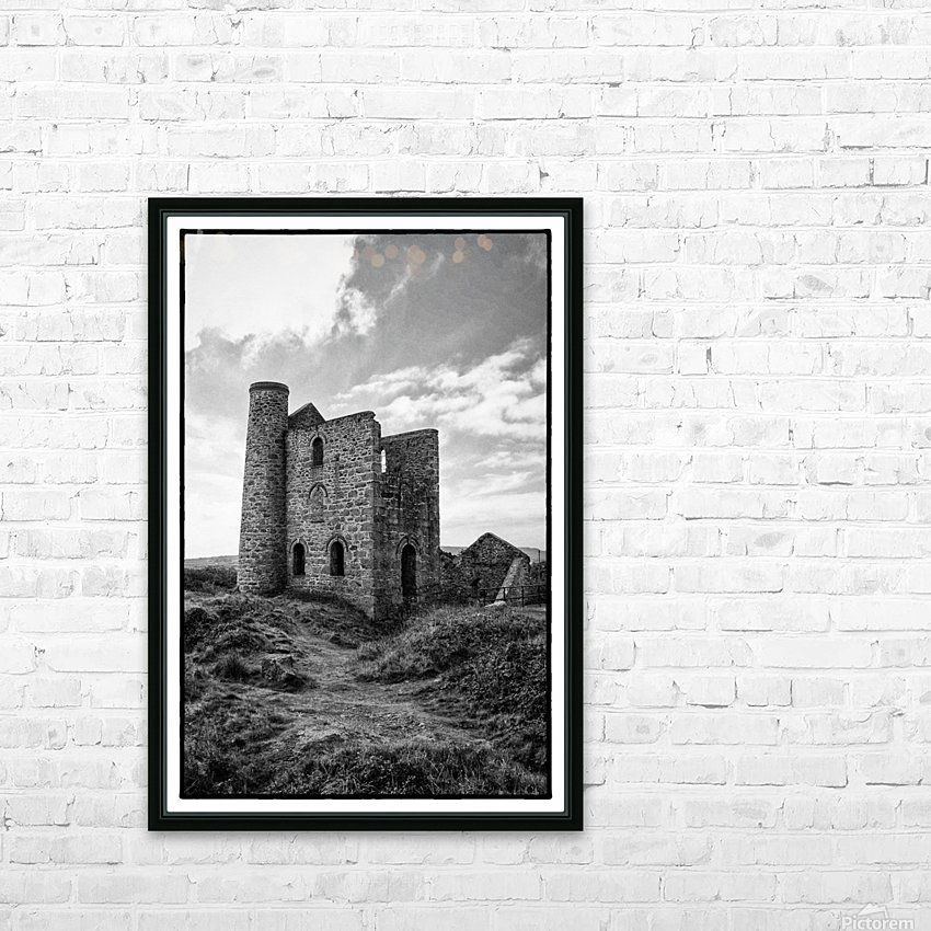 Tin Mine Cornwall HD Sublimation Metal print with Decorating Float Frame (BOX)