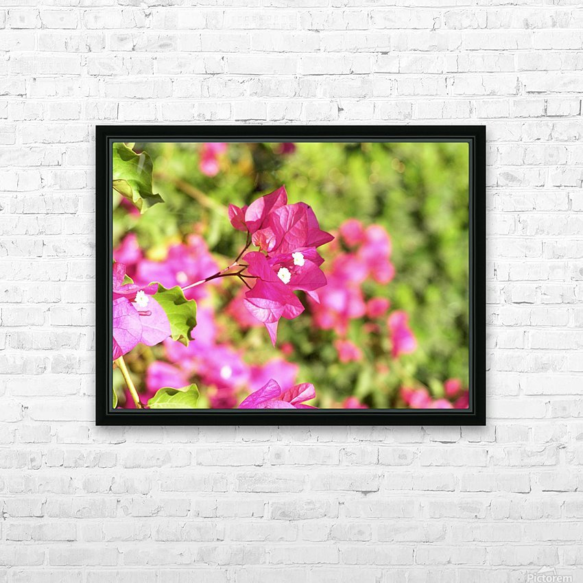 Flower39 HD Sublimation Metal print with Decorating Float Frame (BOX)
