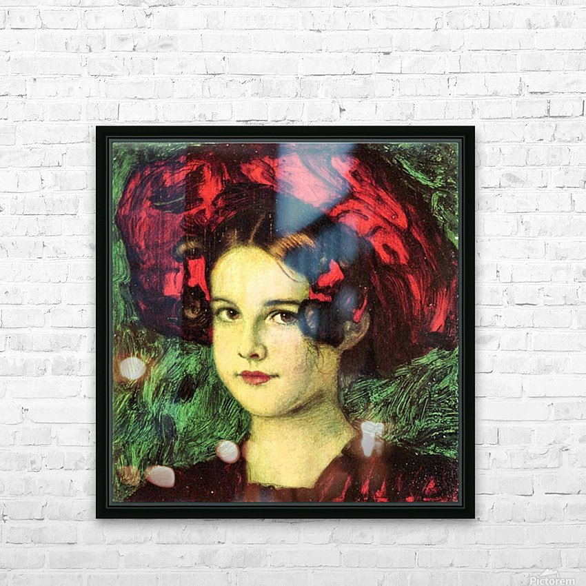 Mary with red hat by Franz von Stuck HD Sublimation Metal print with Decorating Float Frame (BOX)