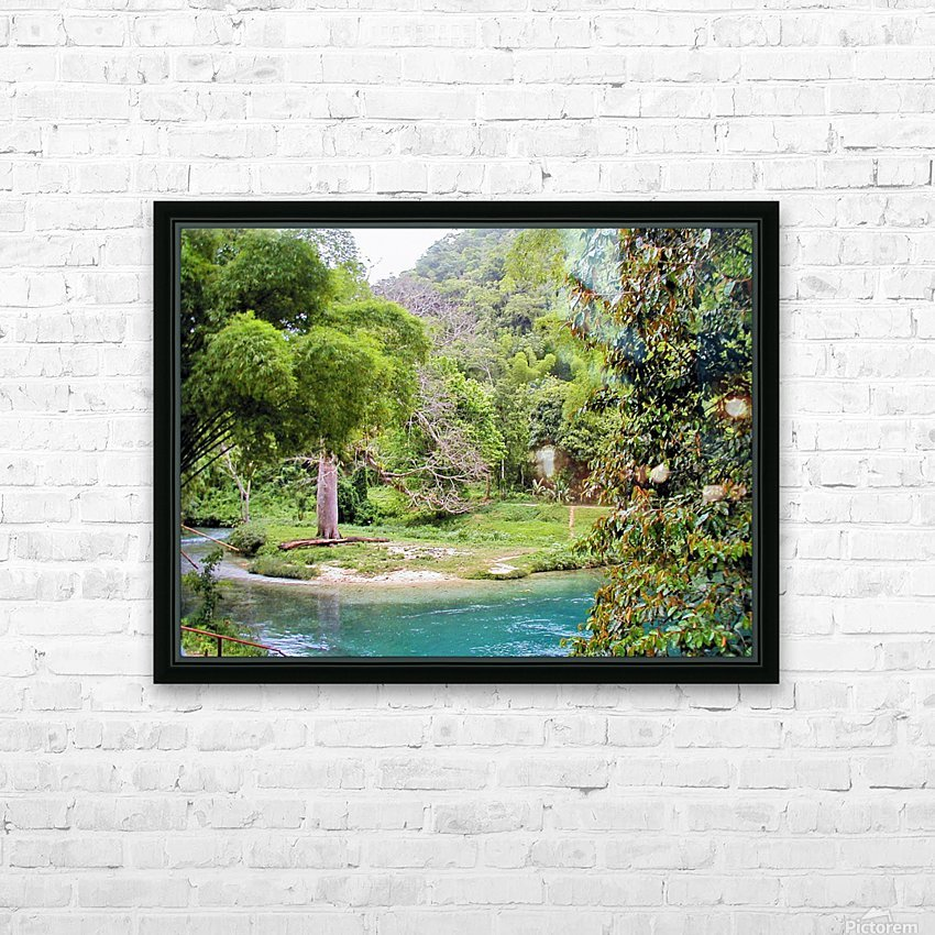 River7 HD Sublimation Metal print with Decorating Float Frame (BOX)