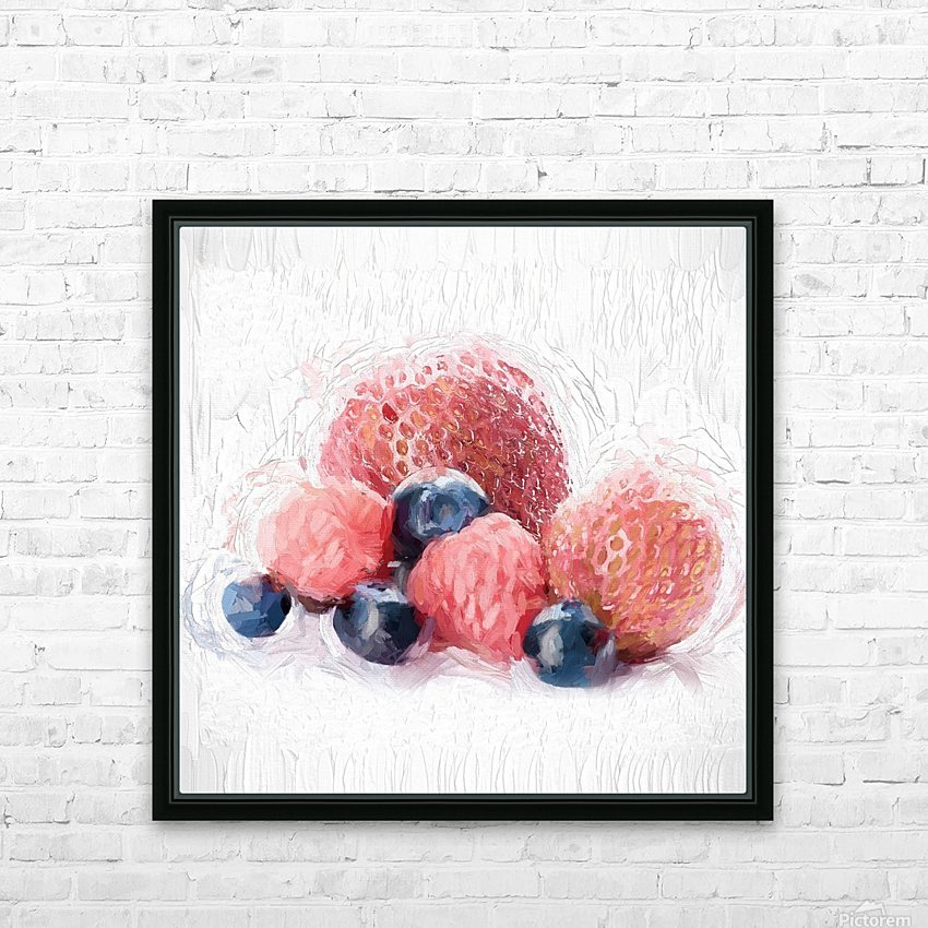 Berries HD Sublimation Metal print with Decorating Float Frame (BOX)