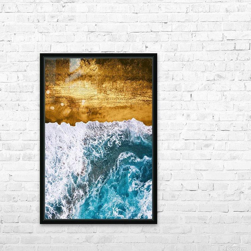 Tropical XVI - Golden Beach HD Sublimation Metal print with Decorating Float Frame (BOX)