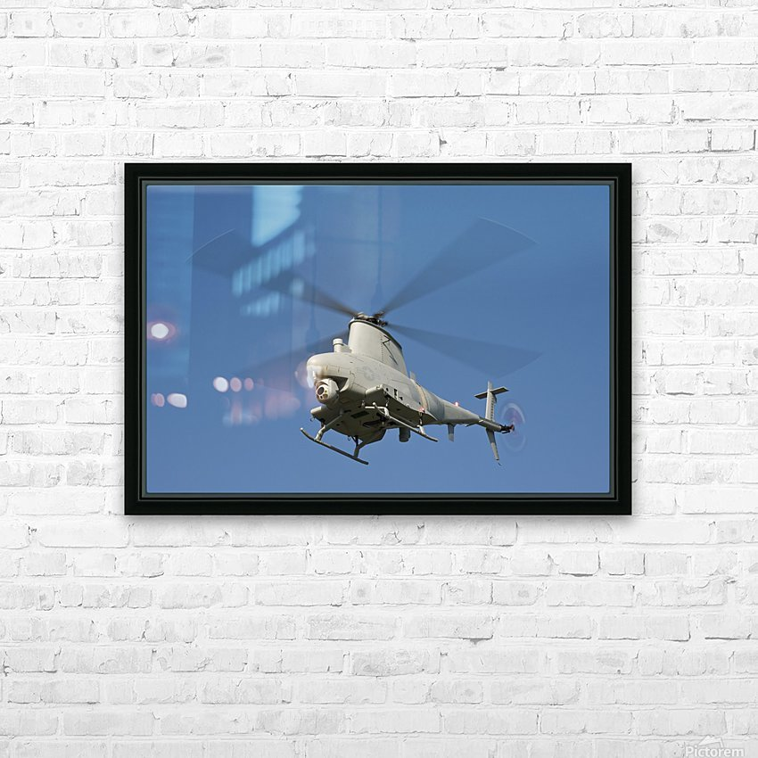 An MQ-8B Fire Scout unmanned aerial vehicle in flight. HD Sublimation Metal print with Decorating Float Frame (BOX)