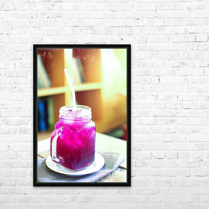 Herb juice. HD Sublimation Metal print with Decorating Float Frame (BOX)