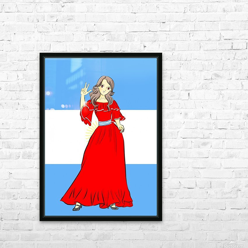 Argentina HD Sublimation Metal print with Decorating Float Frame (BOX)