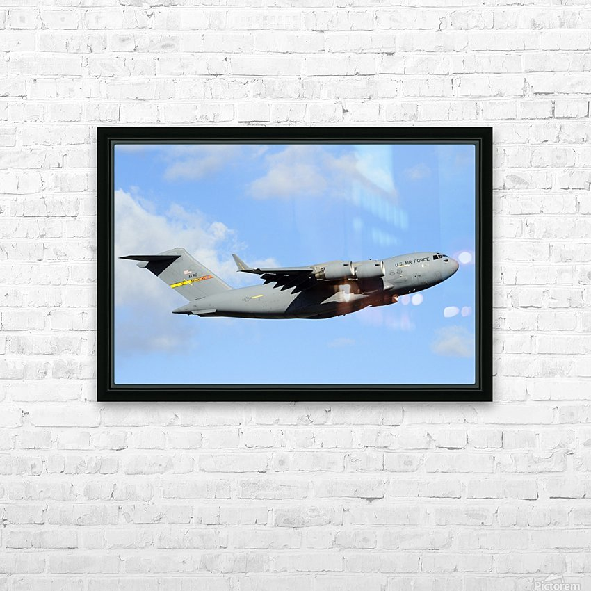 A C-17 Globemaster III HD Sublimation Metal print with Decorating Float Frame (BOX)