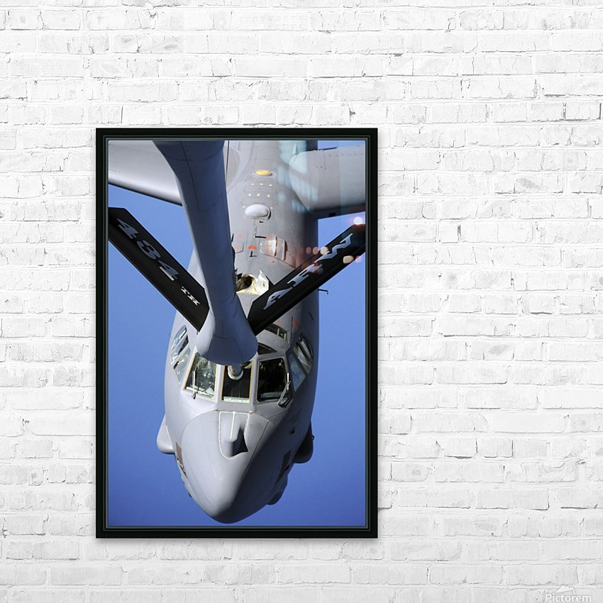 A B-52 Stratofortress moves into position to receive fuel. HD Sublimation Metal print with Decorating Float Frame (BOX)