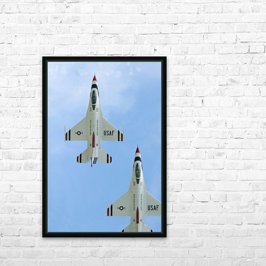 The United States Air Force Demonstration Team Thunderbirds HD Sublimation Metal print with Decorating Float Frame (BOX)