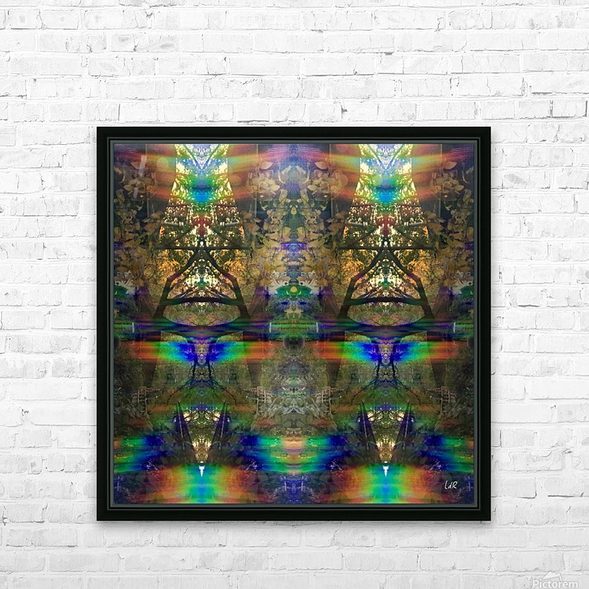 Colliding Universes HD Sublimation Metal print with Decorating Float Frame (BOX)