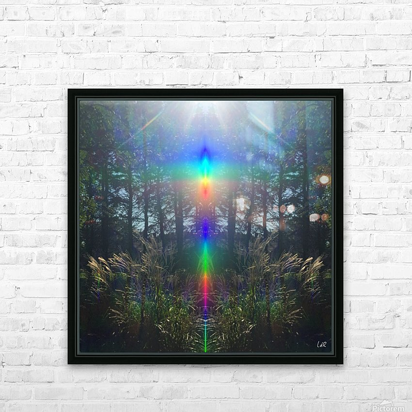 Rainbow Light HD Sublimation Metal print with Decorating Float Frame (BOX)