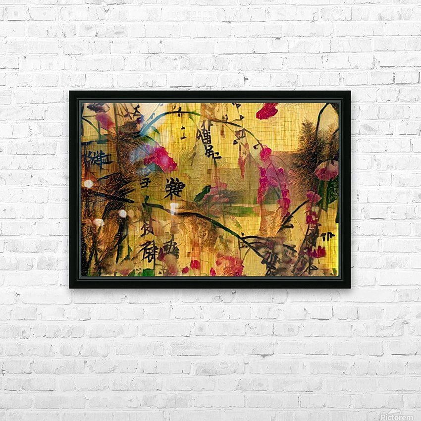 Oriental Painting. Japanese Style HD Sublimation Metal print with Decorating Float Frame (BOX)