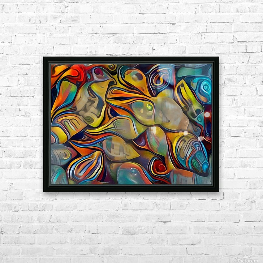 Seashell Colorful Pattern HD Sublimation Metal print with Decorating Float Frame (BOX)