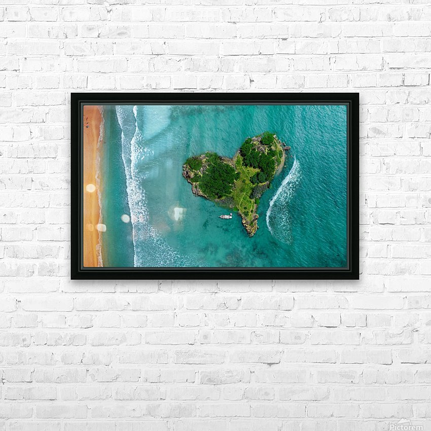 LOVE ISLAND HD Sublimation Metal print with Decorating Float Frame (BOX)