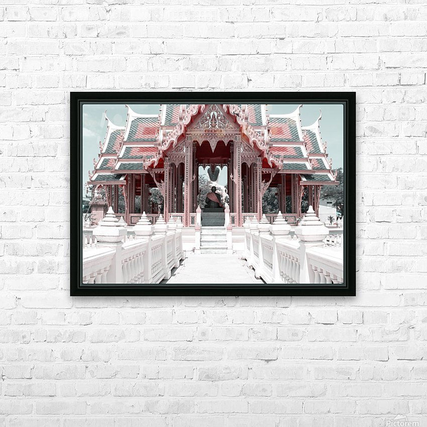 Buddhist Monk Pink&Mint HD Sublimation Metal print with Decorating Float Frame (BOX)