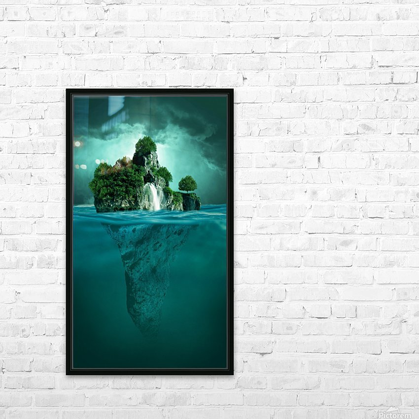 MYSTERY ISLAND HD Sublimation Metal print with Decorating Float Frame (BOX)
