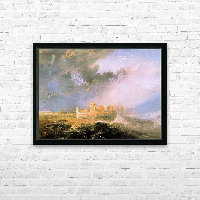 Mouth of the Seine by Joseph Mallord Turner HD Sublimation Metal print with Decorating Float Frame (BOX)