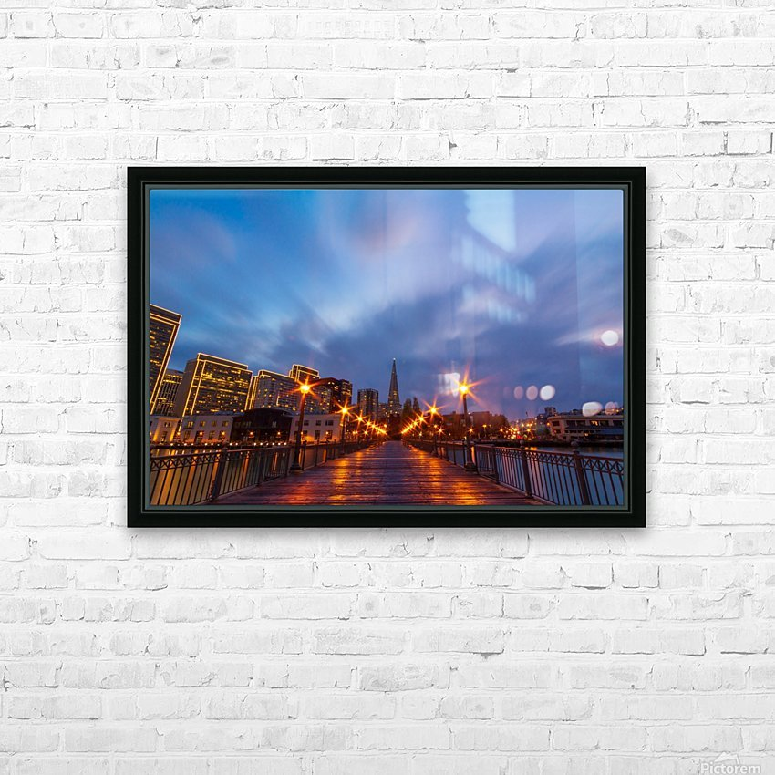 San Francisco During Storm HD Sublimation Metal print with Decorating Float Frame (BOX)