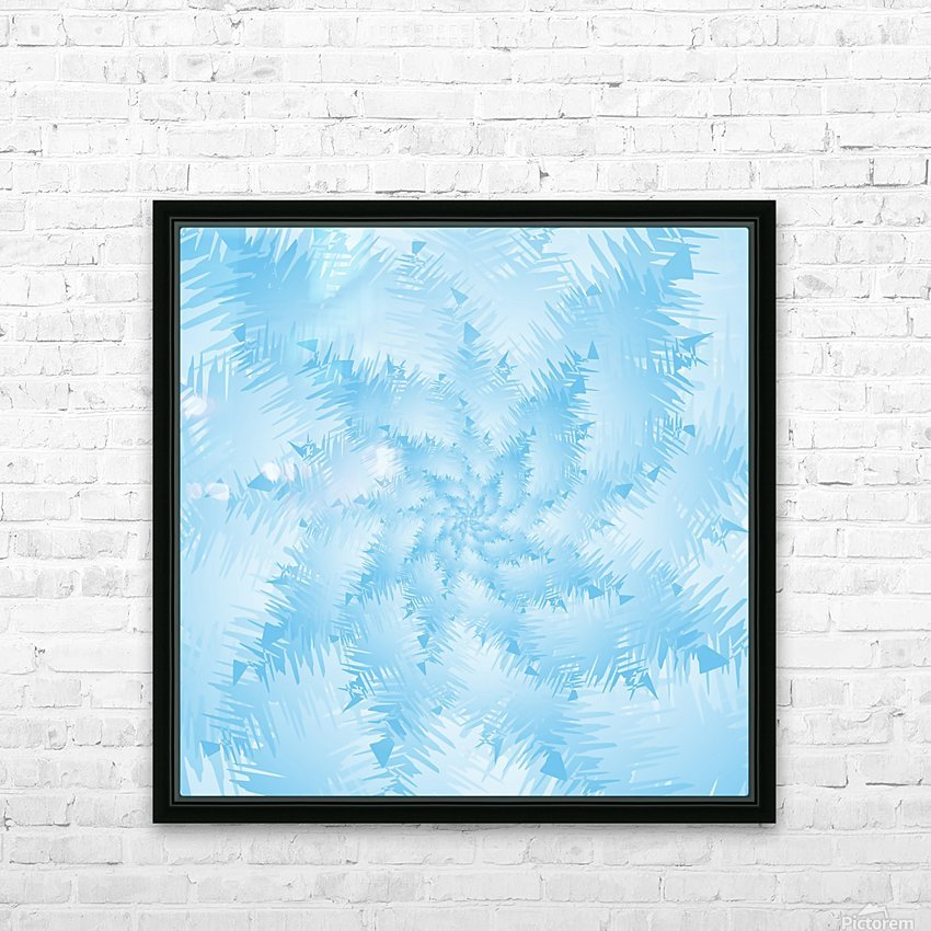 Blue Snowflake Spiral HD Sublimation Metal print with Decorating Float Frame (BOX)